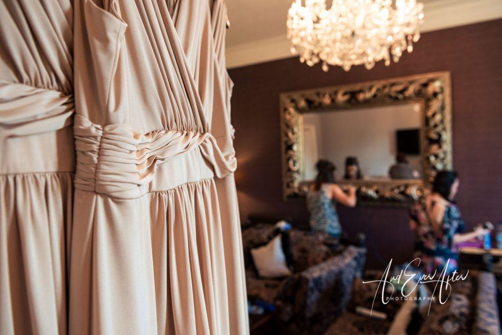 picture showing bridesmaids dresses