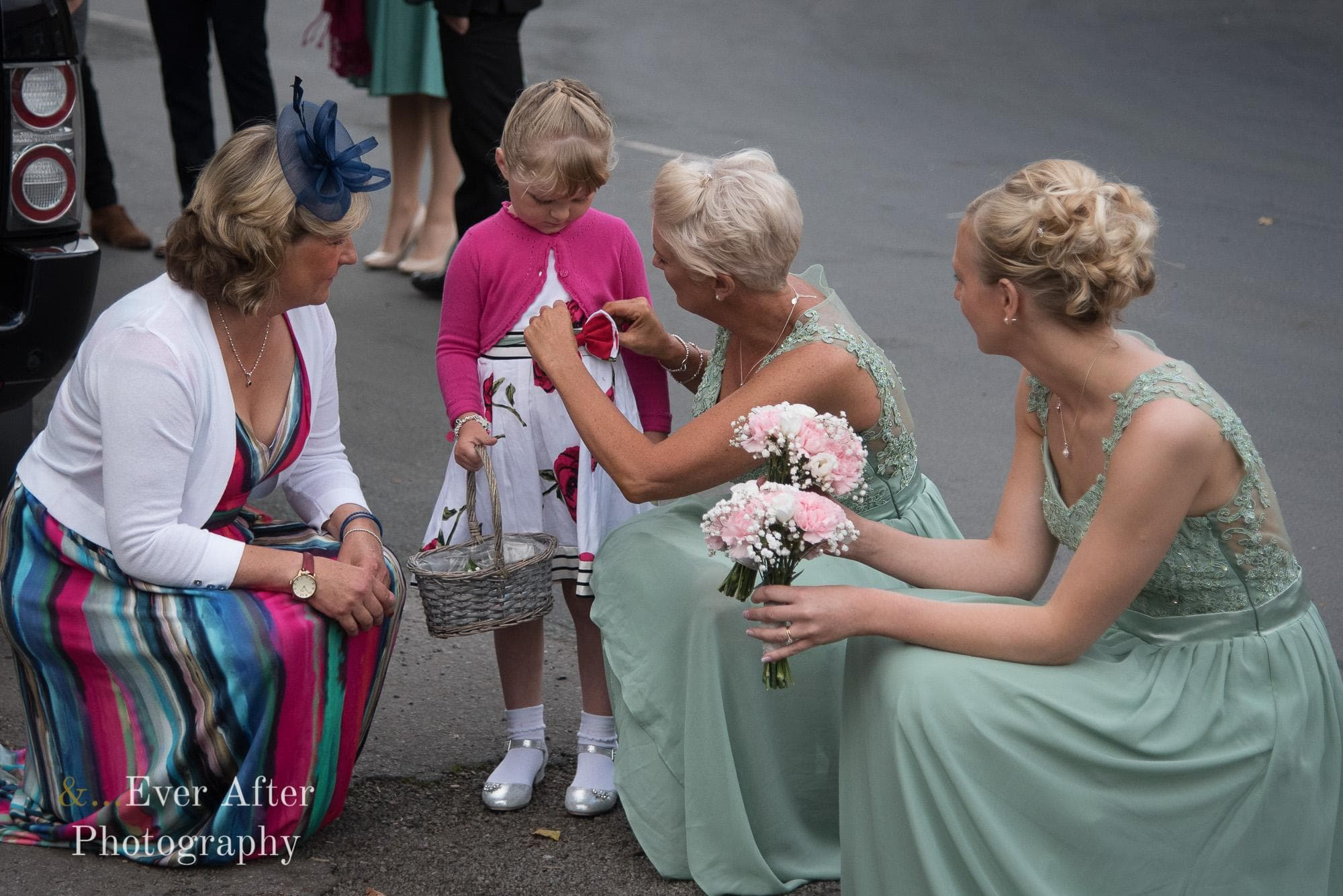 flower girl, bridesmaids