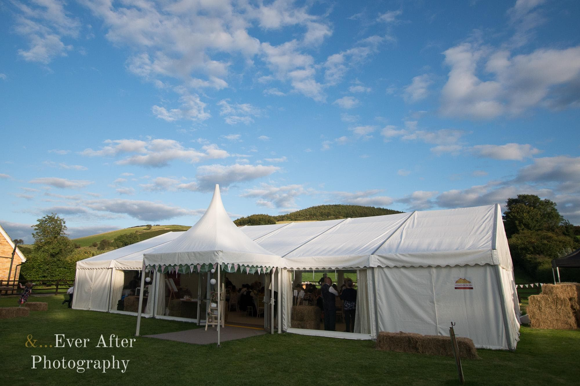 Wedding venue, marquee, and ever after photography, north yorkshire wedding photographer, wedding day