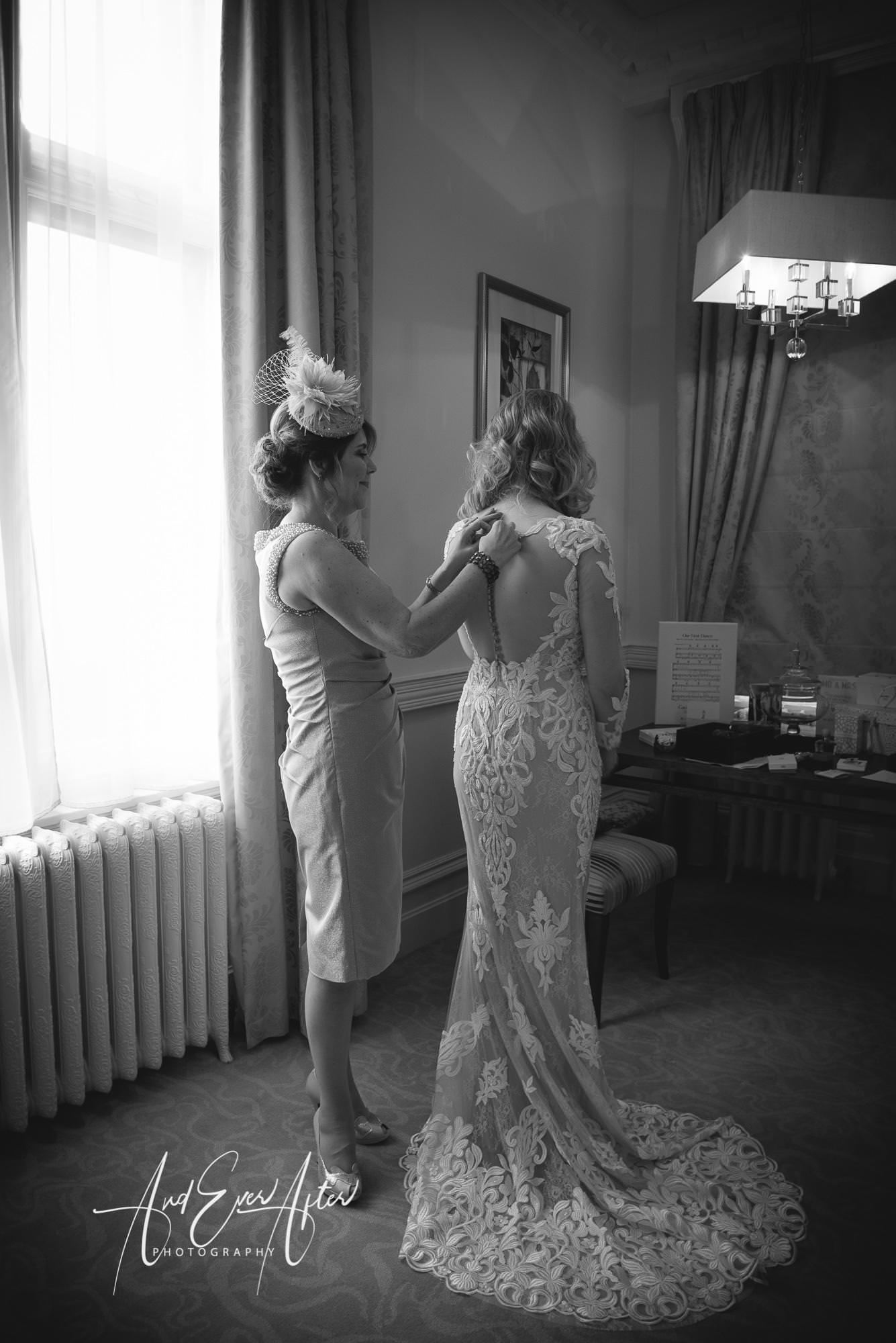 rockliffe hall wedding photography, bride, mother of the bride