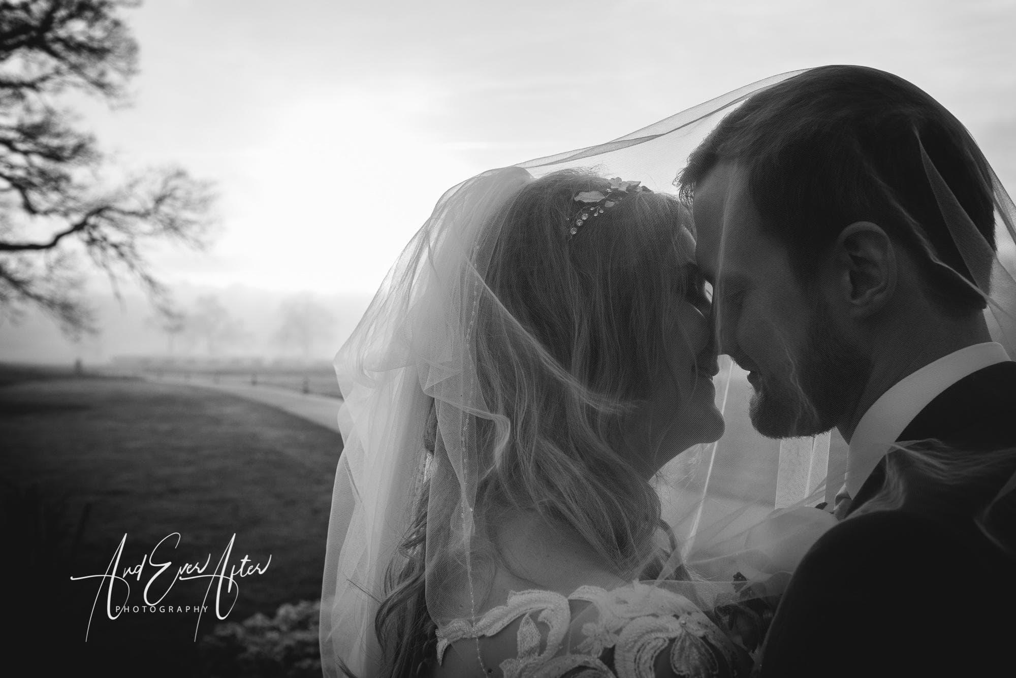 Bride and groom, wedding, rockliffe hall