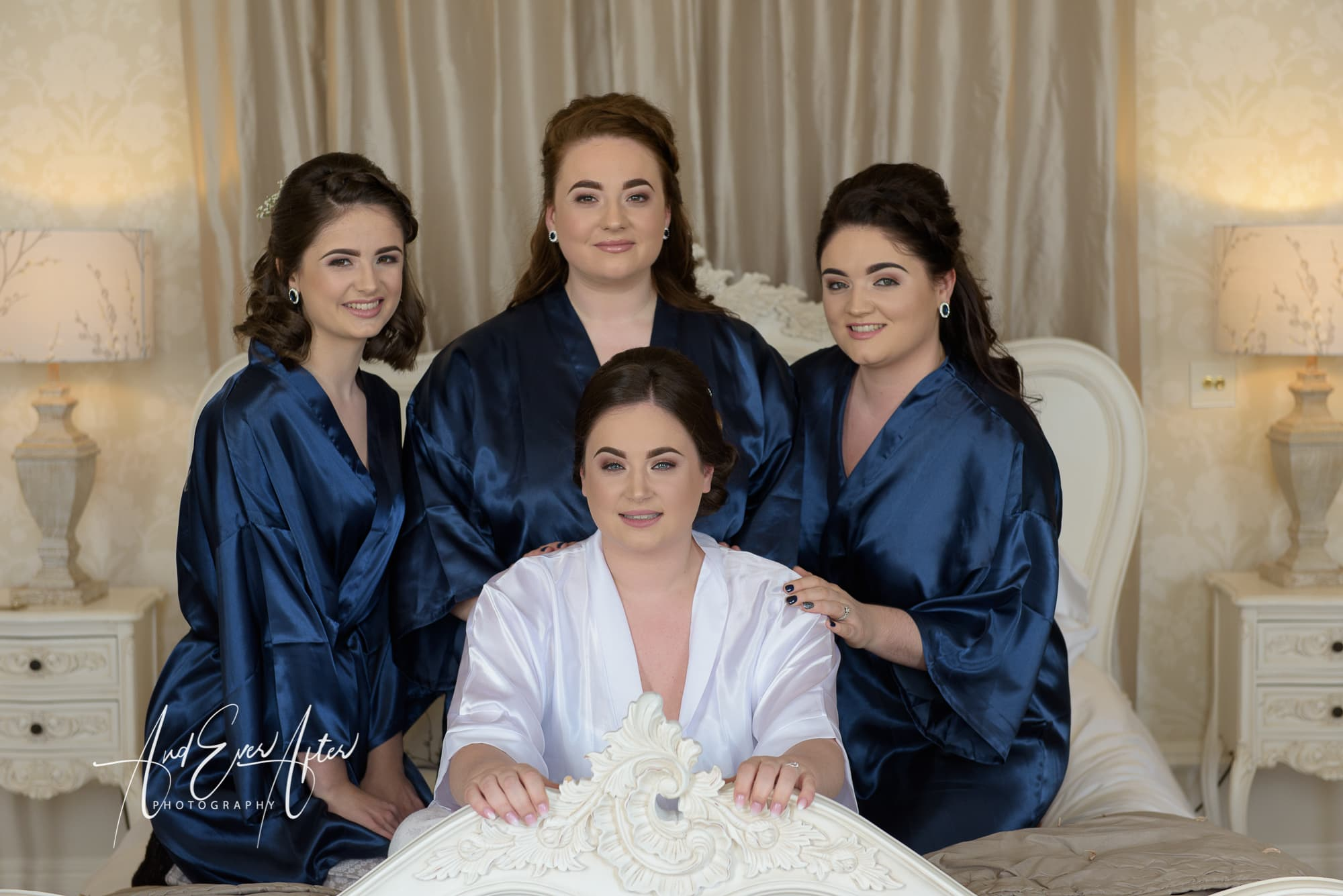 Bride, bridesmaids, wedding photography