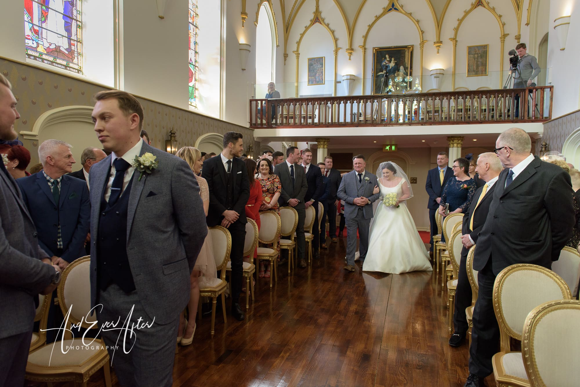 wedding ceremony, lartington hall