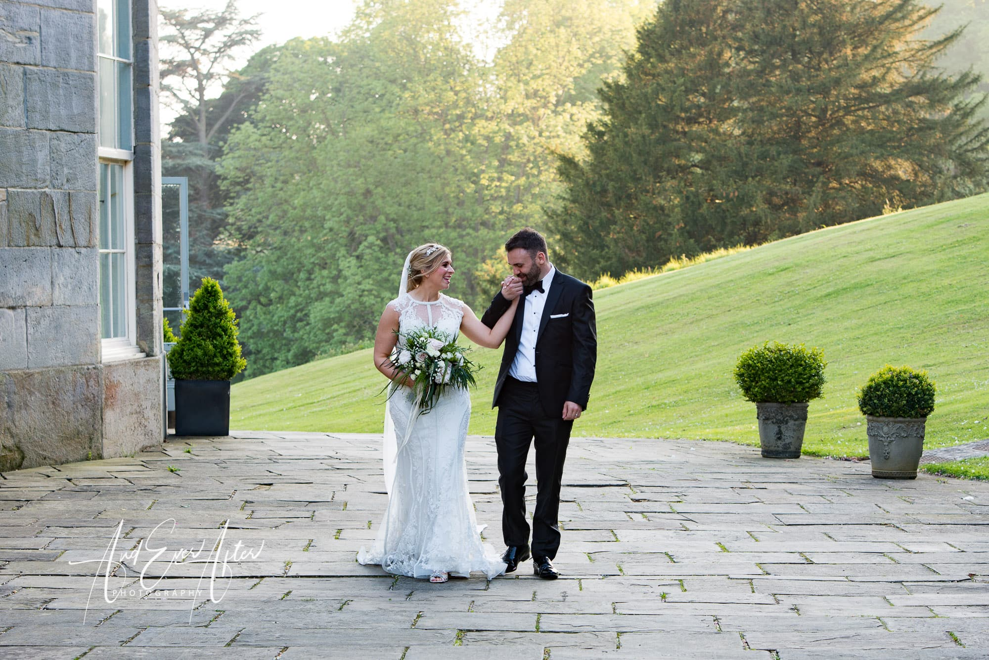 bride and groom, wedding day, wynyard hall, and ever after photography