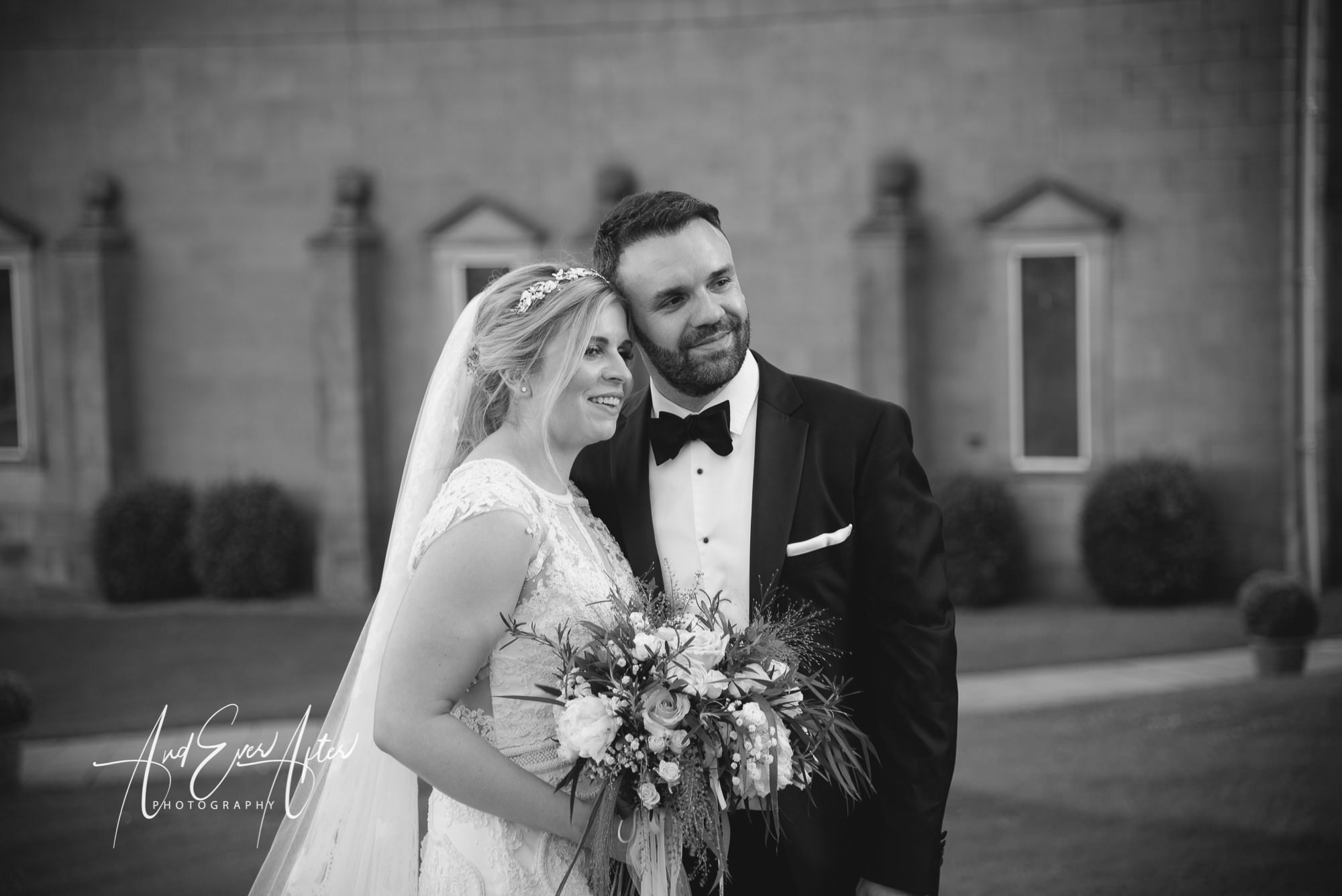 wynyard hall wedding, bride, groom