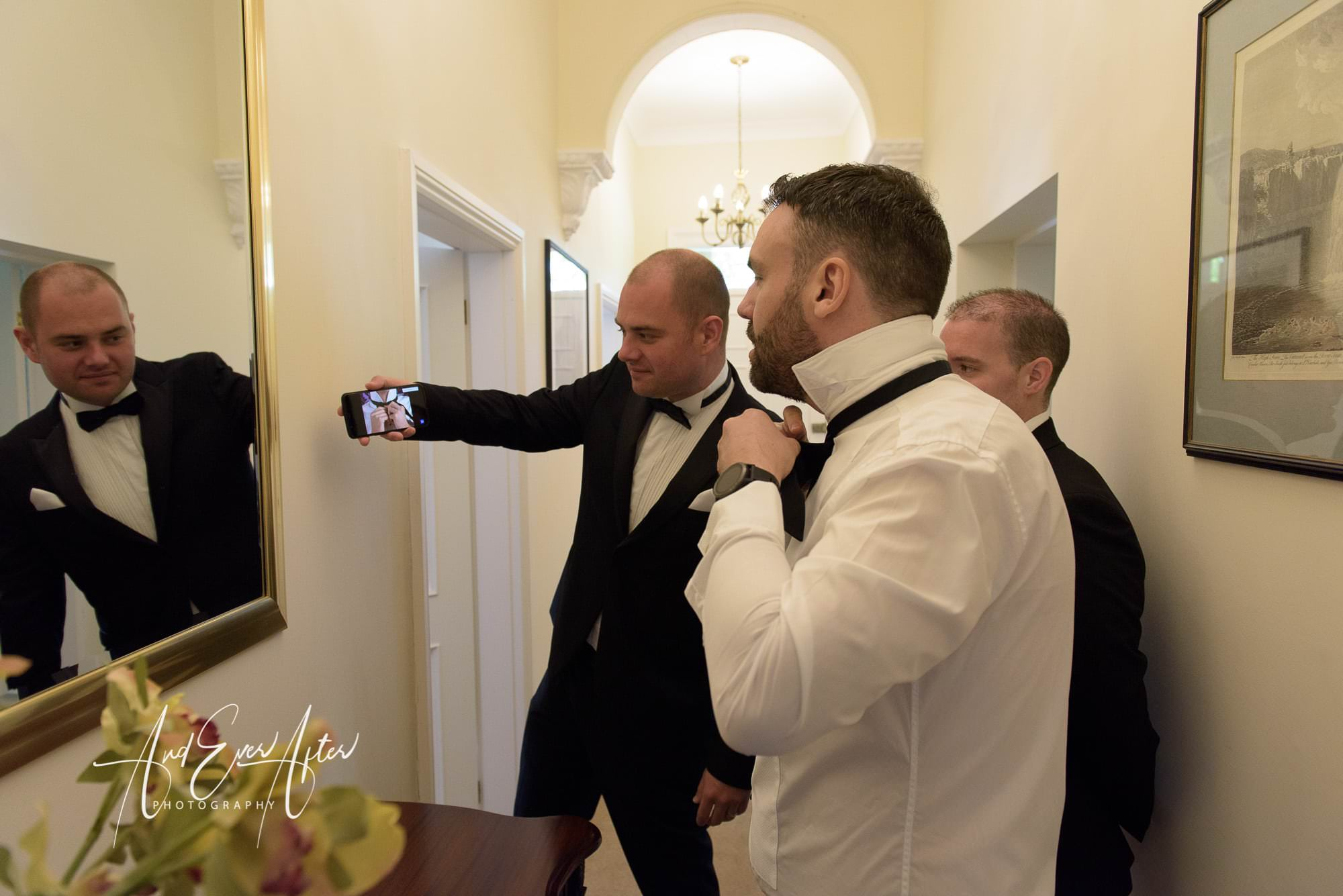 groom preparations, wedding day