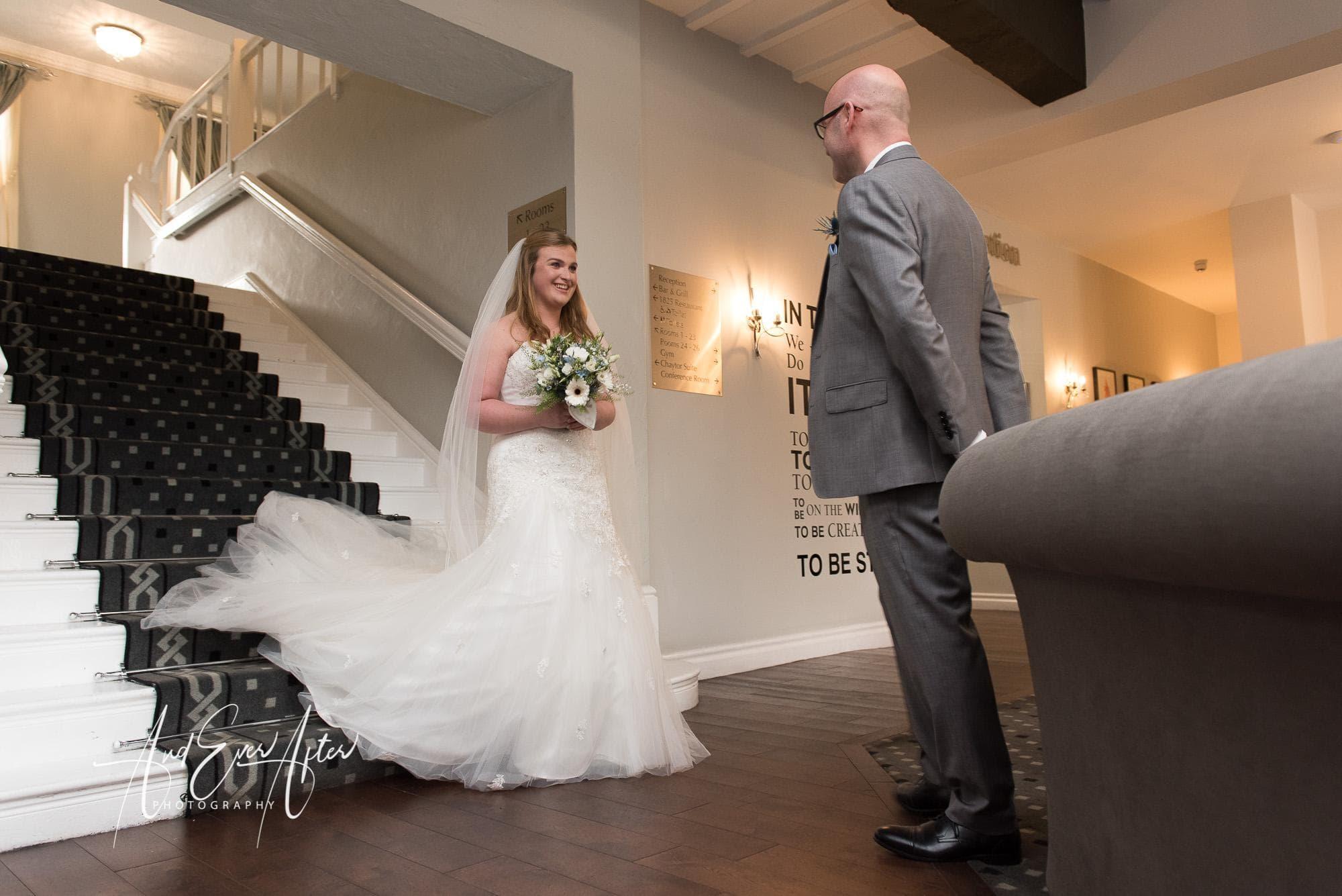 bride, father of the bride, wedding dress