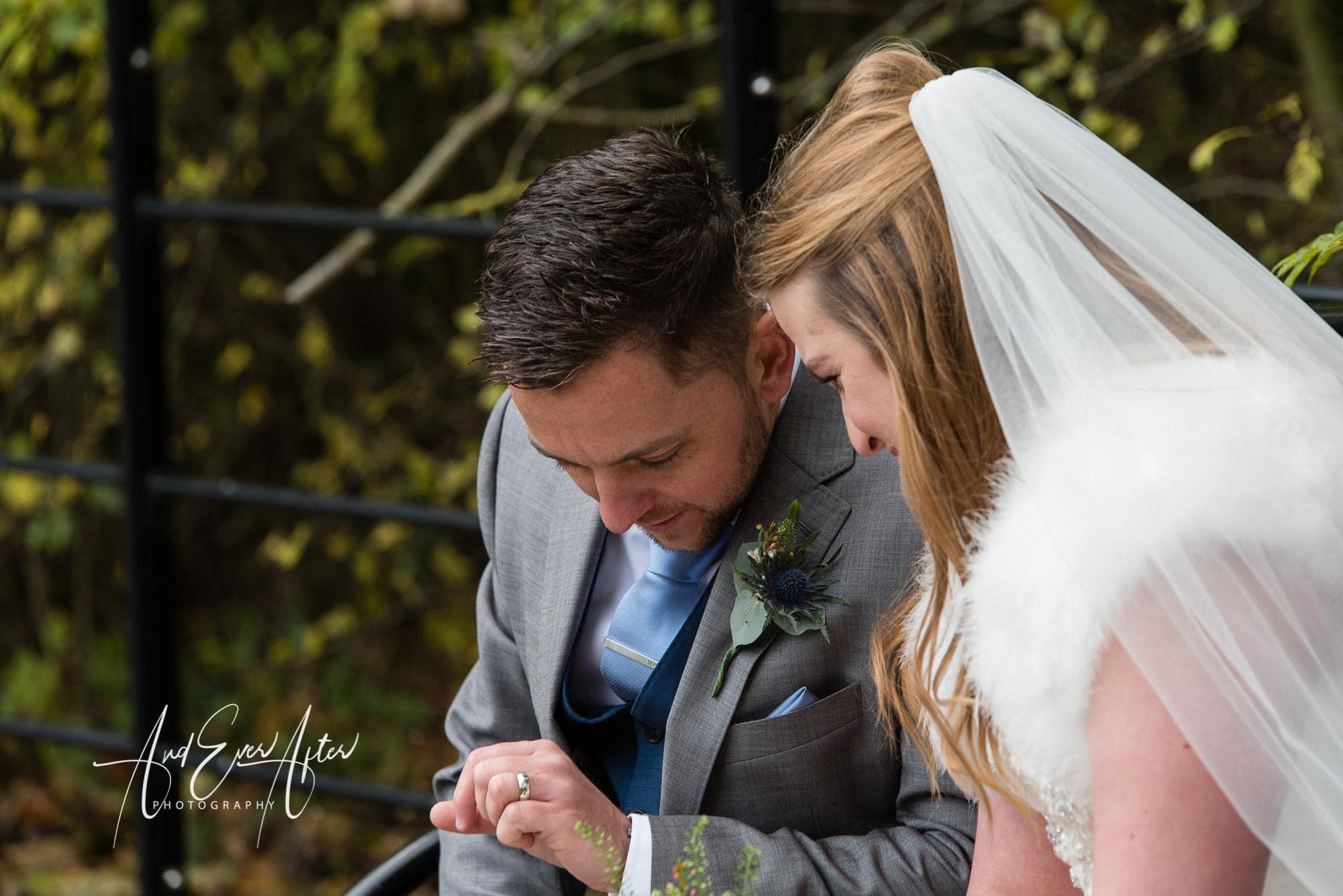 bride, groom, wedding ring