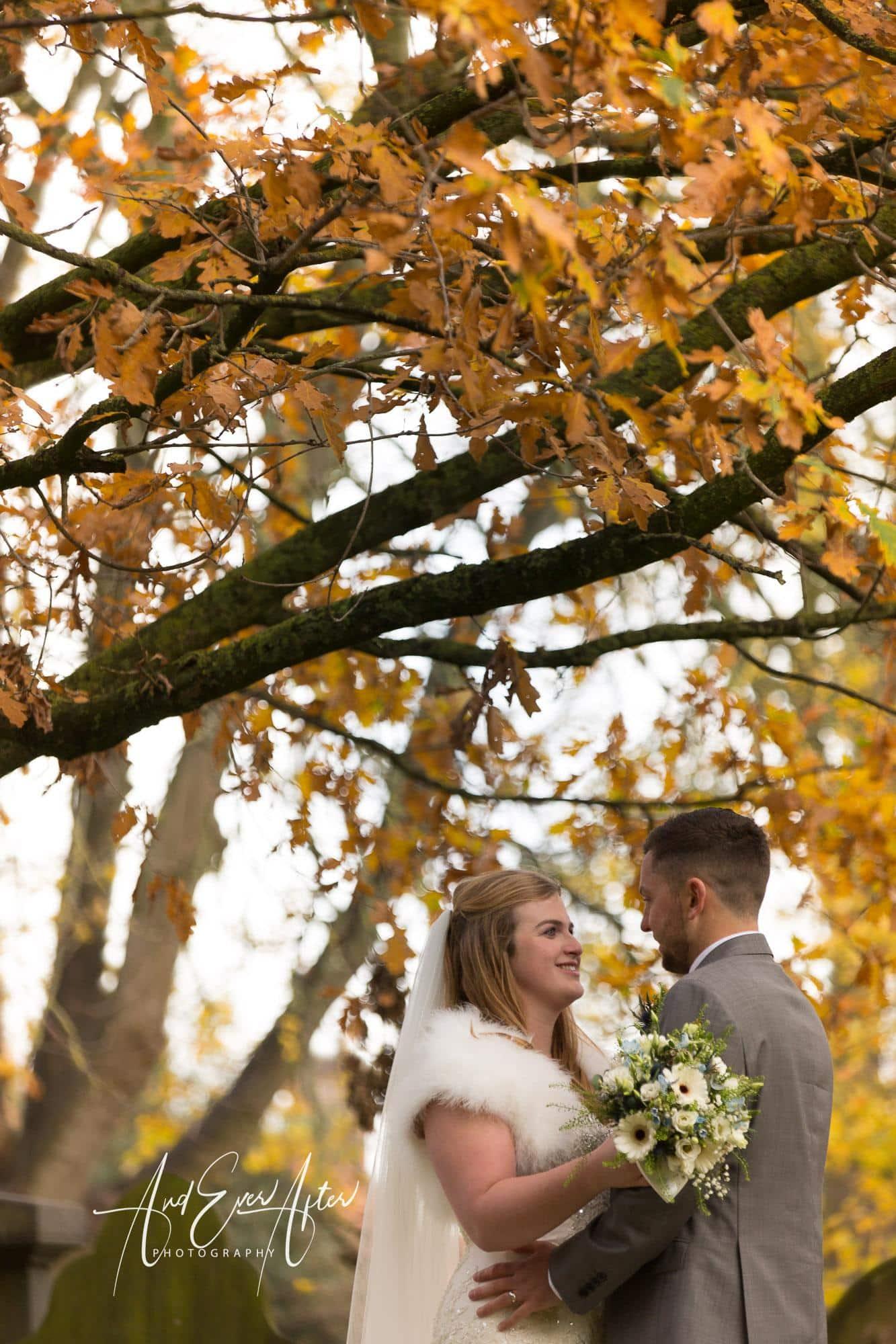 wedding, autumn colours, bride