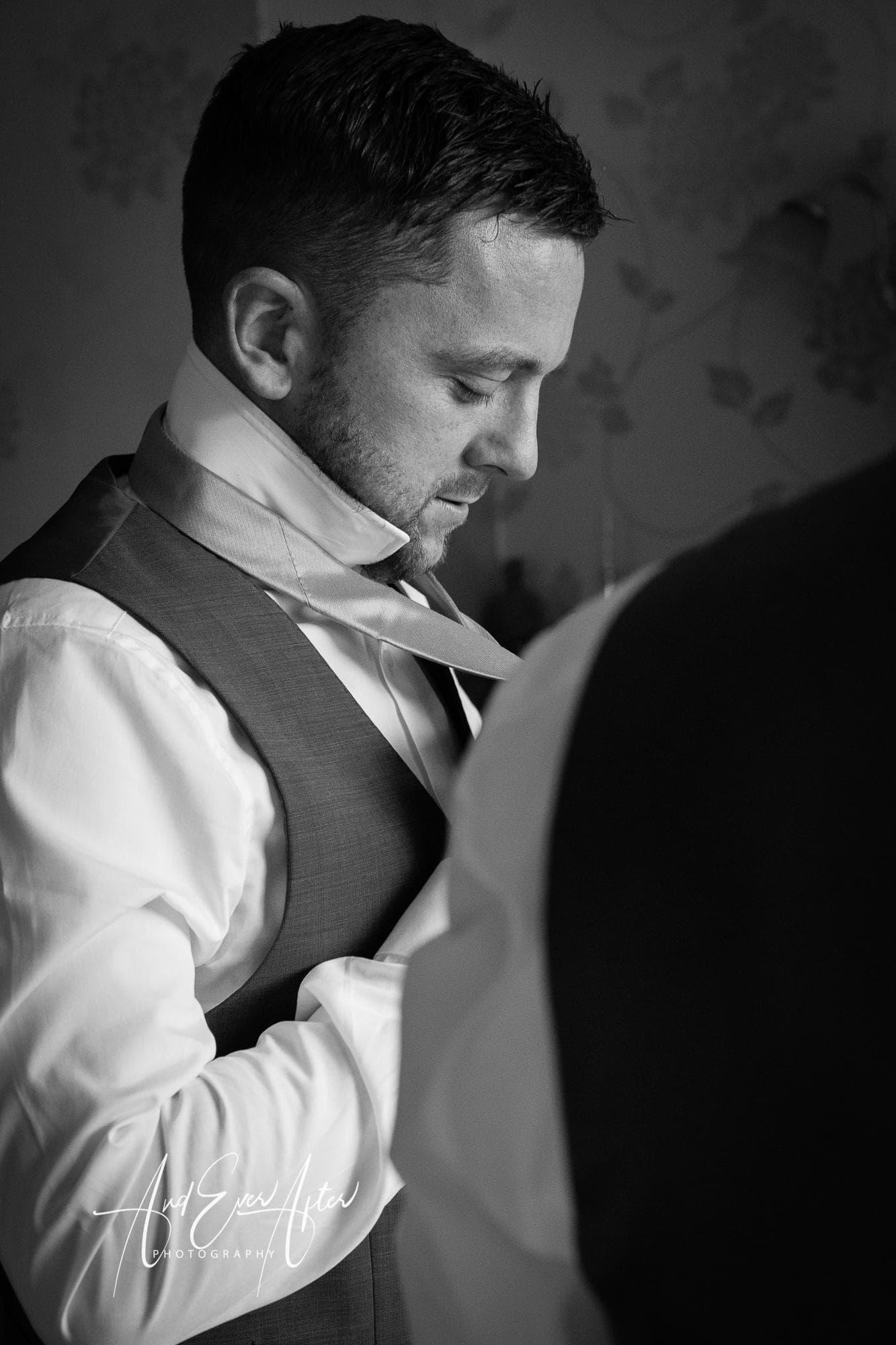 groom, wedding day preparations