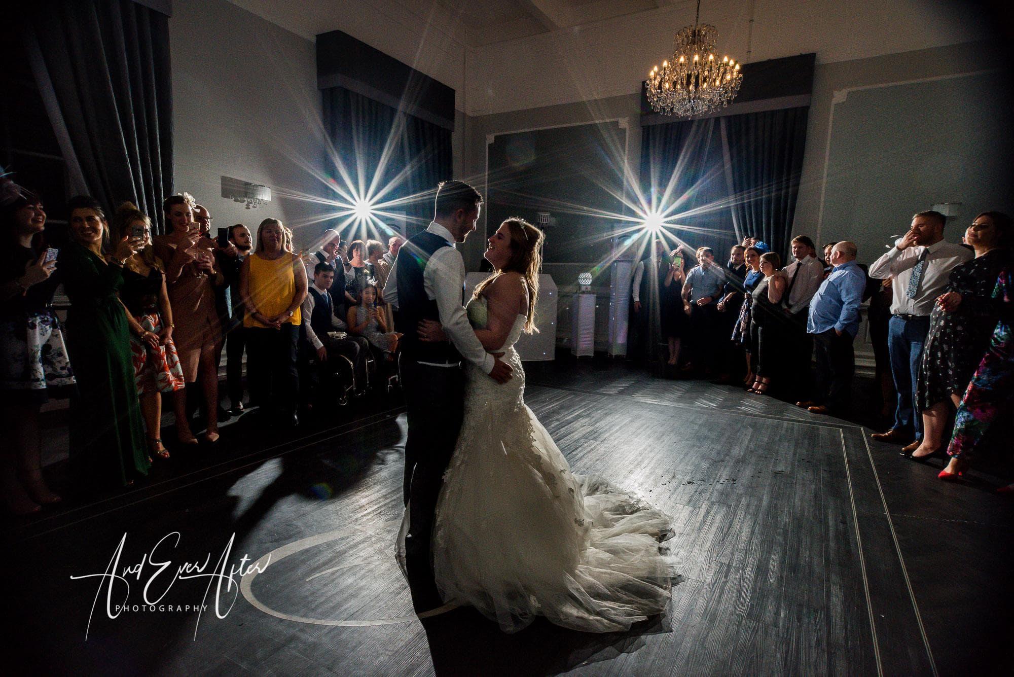 bride, groom, first dance