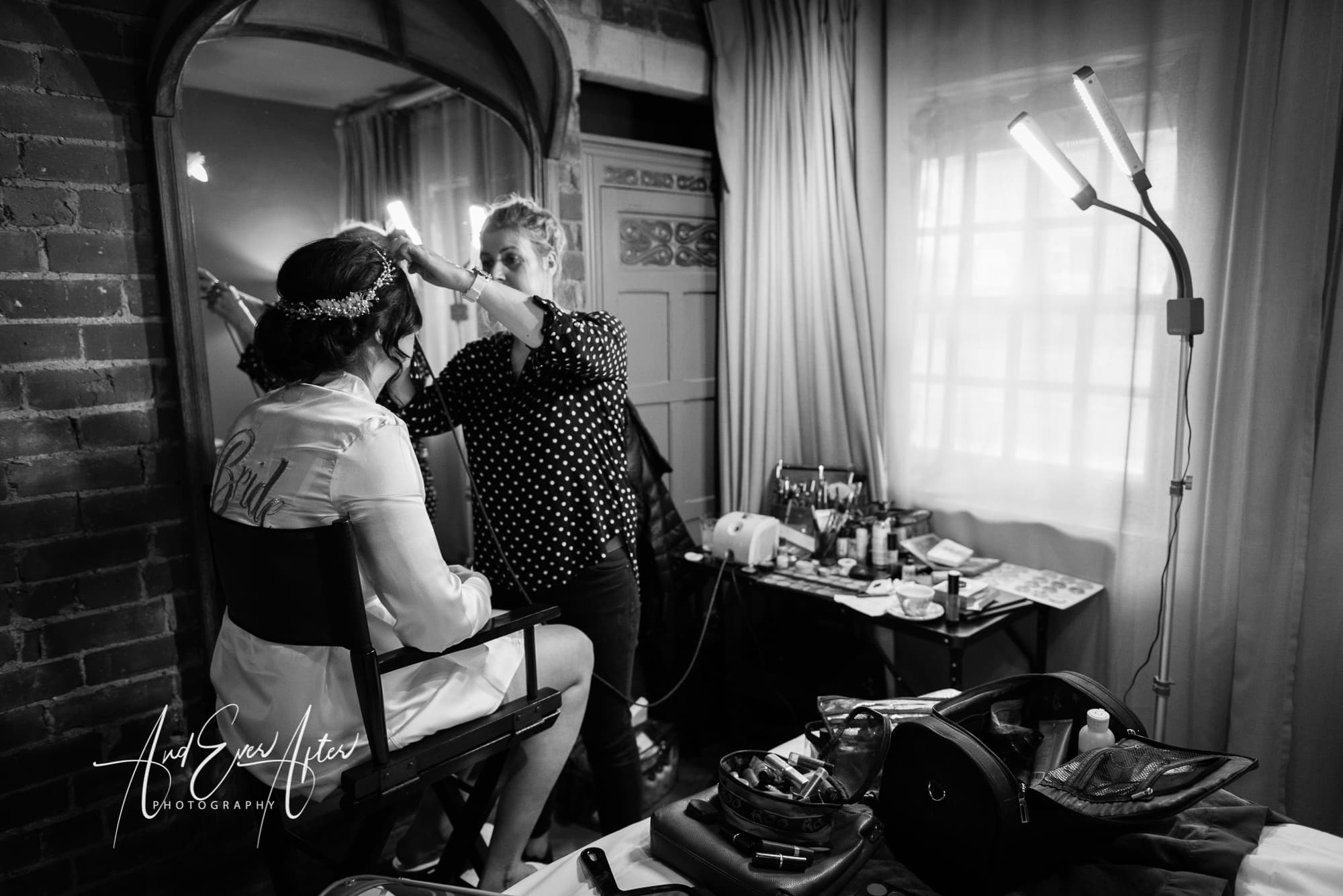 Le petiti chateau, bride, bridal preparations