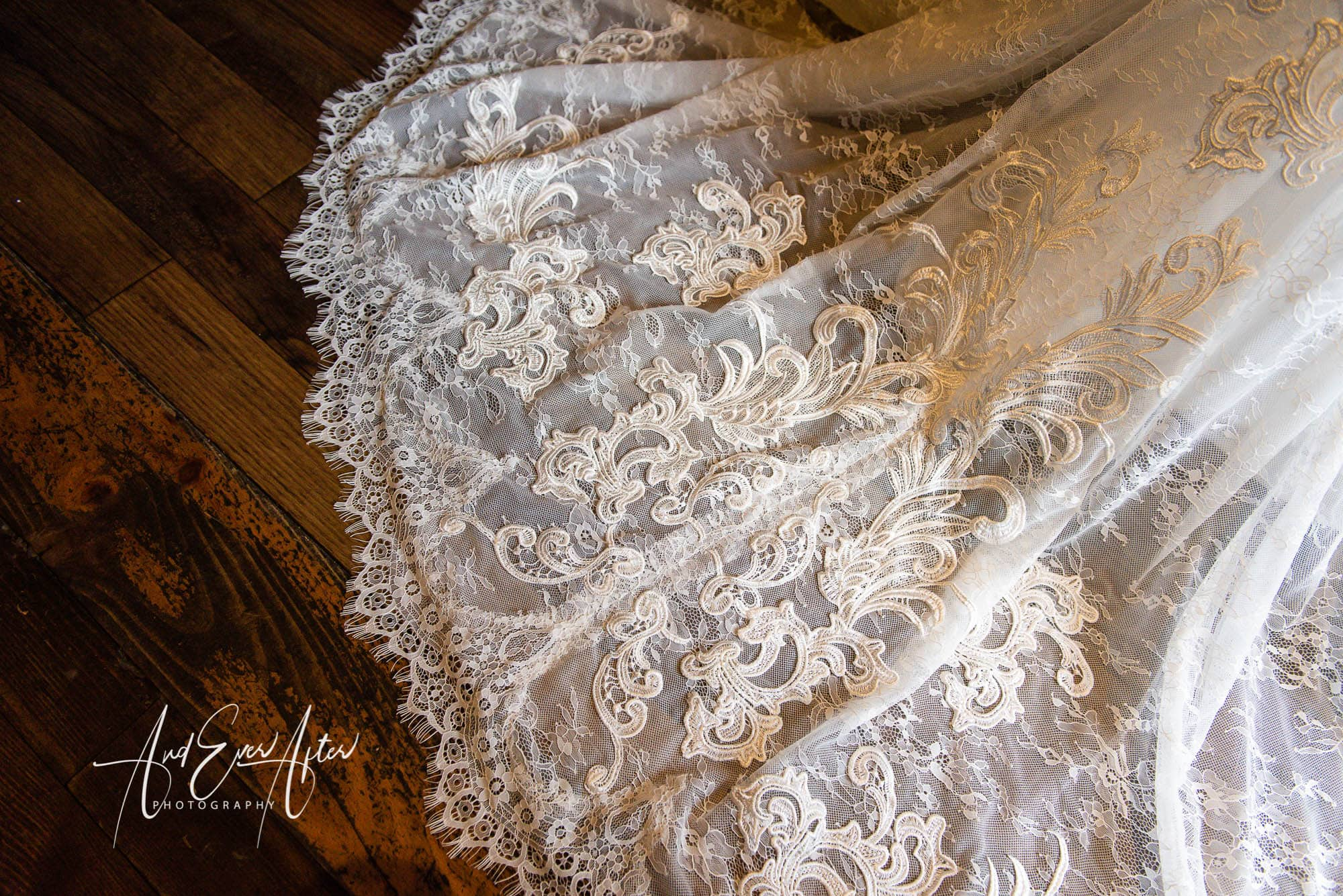Le Petit Chateau, Wedding Dress Detail
