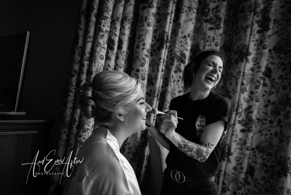 Matfen Hall Wedding Photography, bridal preparations, make up, choosing your wedding photographer article