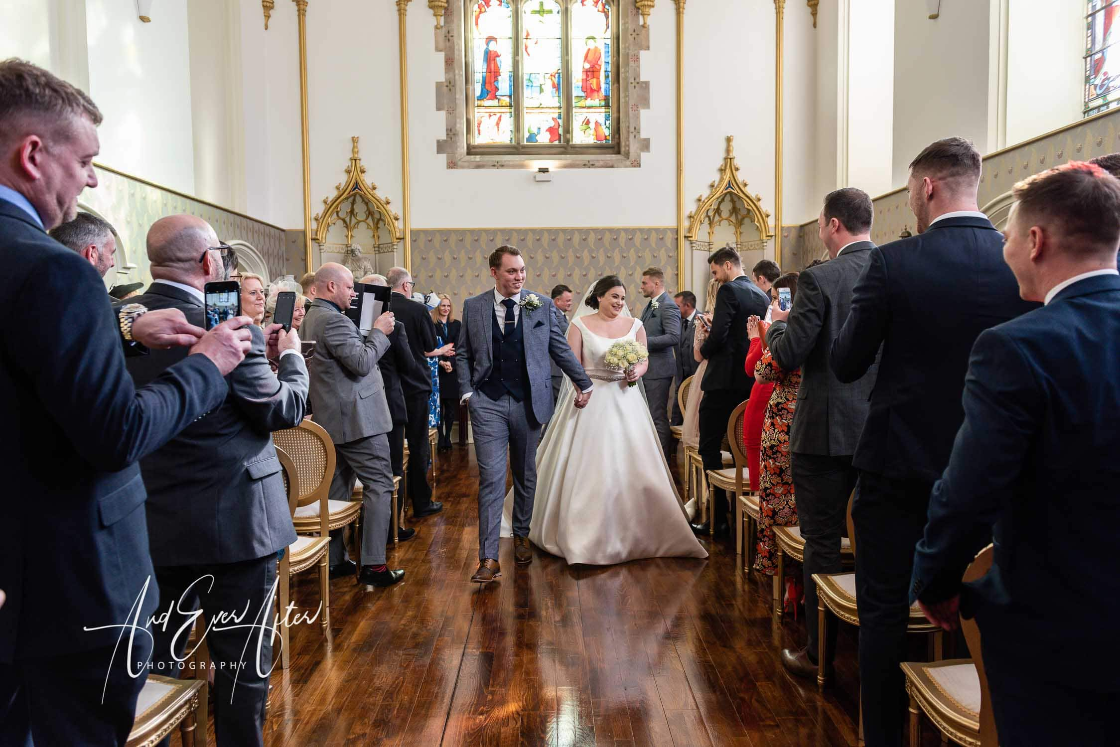 lartington hall, wedding day, chapel