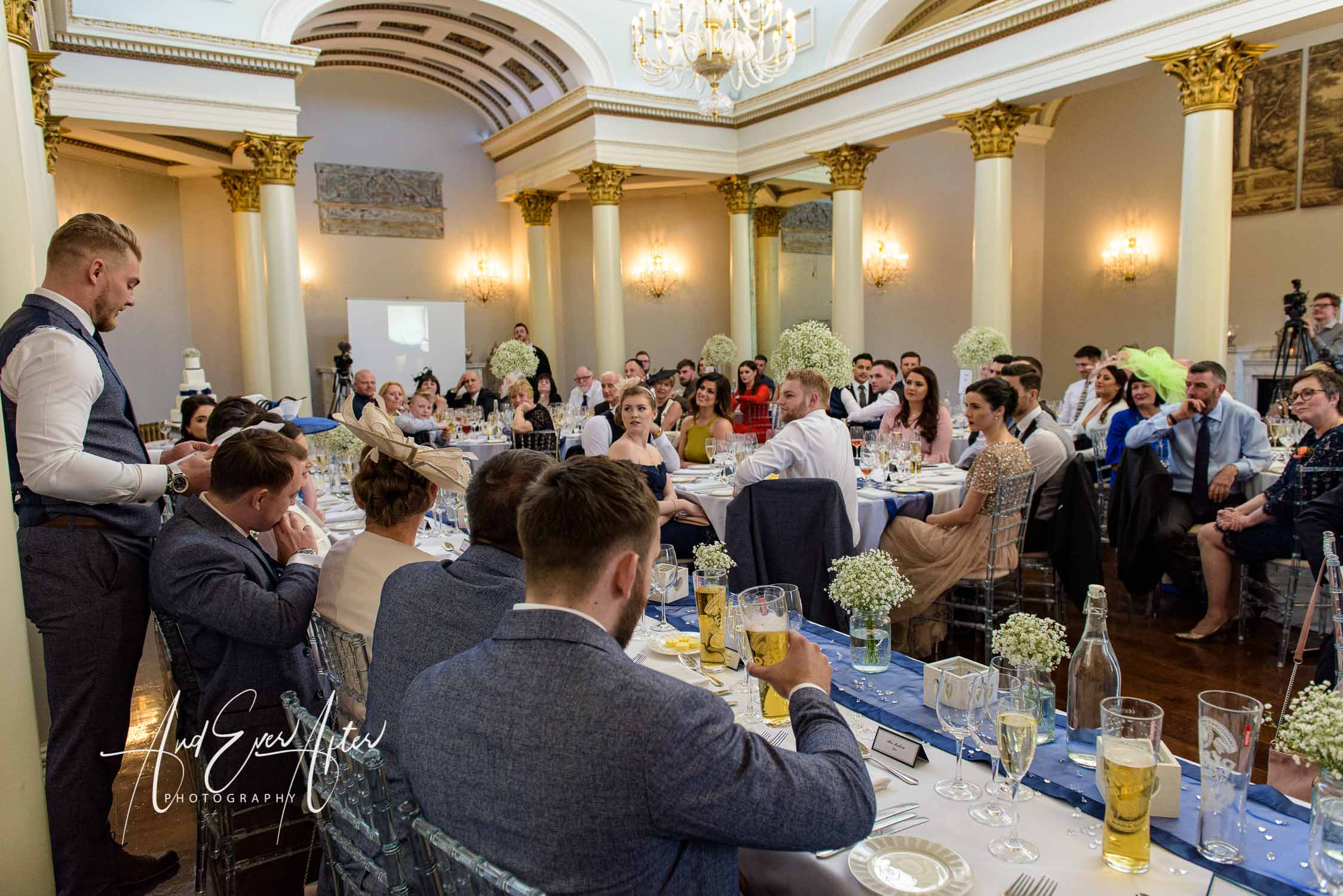lartington hall wedding venue, wedding breakfast speeches