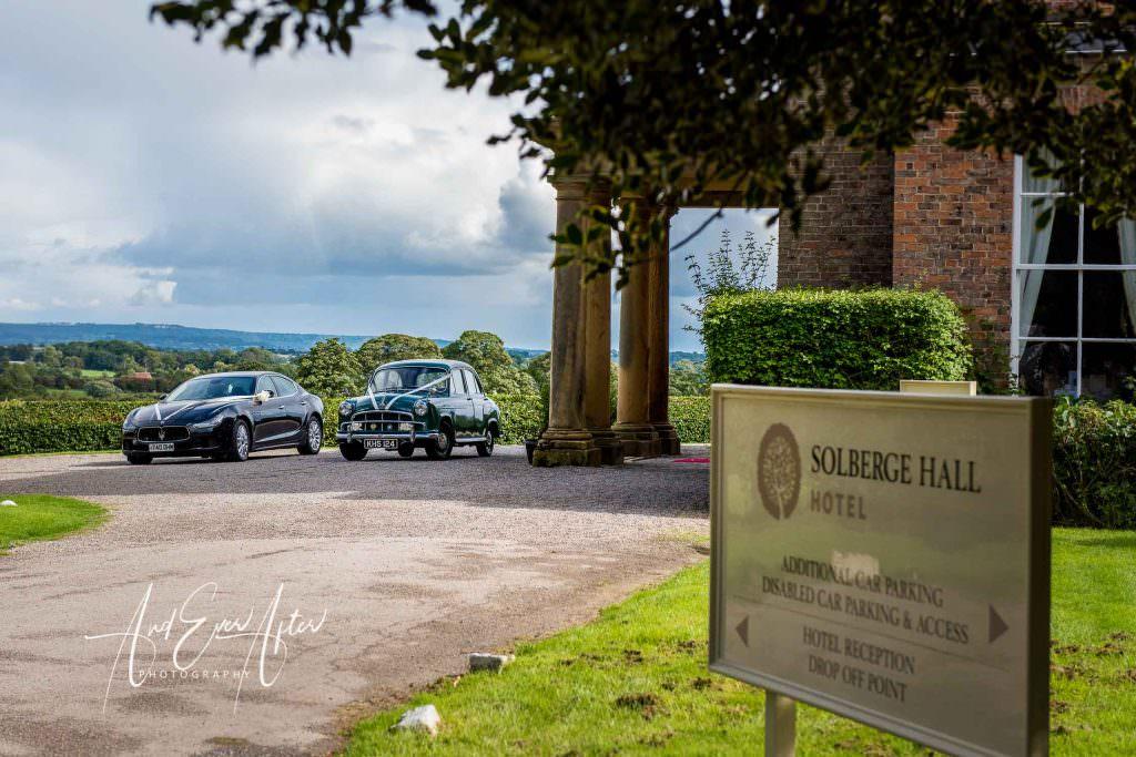 wedding car, solberge hall