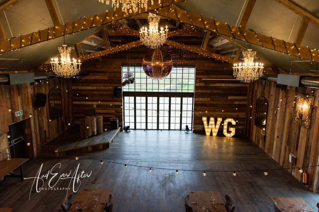 wedding venue north yorkshire, view from the mezzanine
