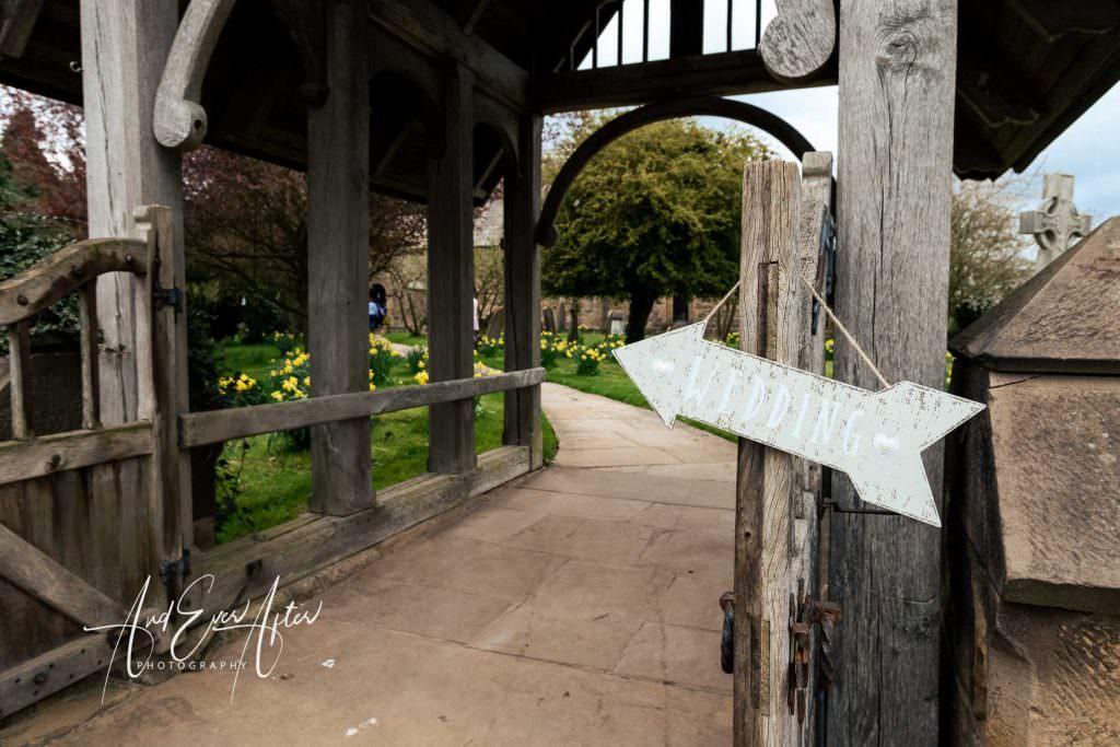 church wedding sign