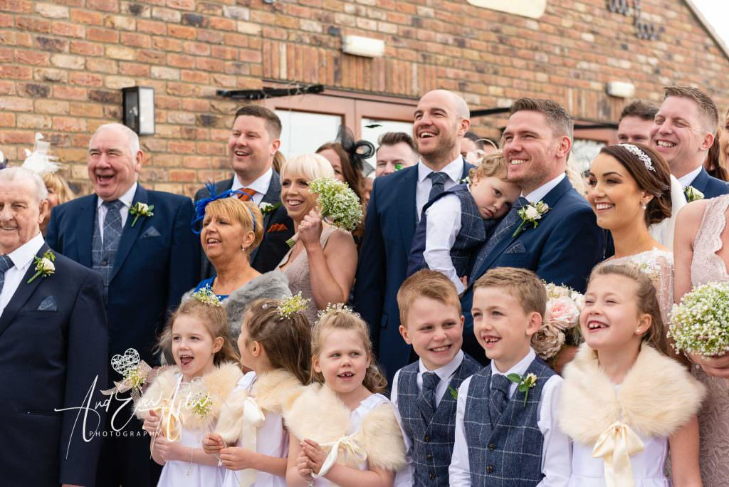 full group wedding day photograph