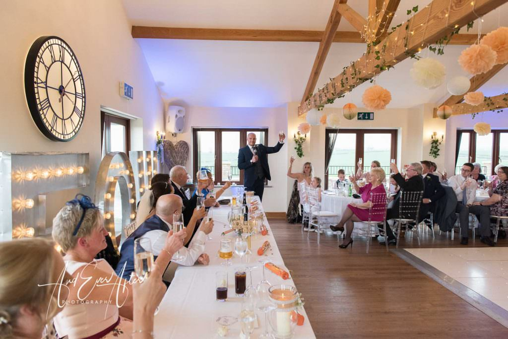 wedding speeches at theif hall