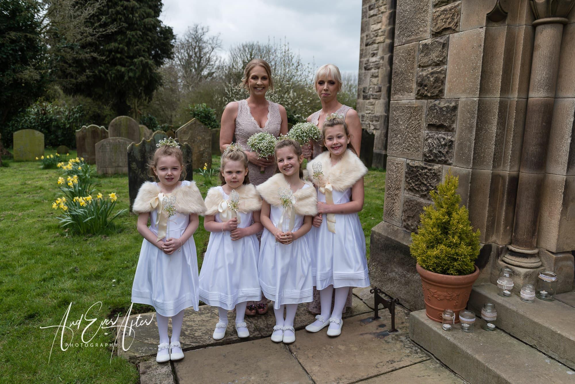 bridesmaids, flower girls