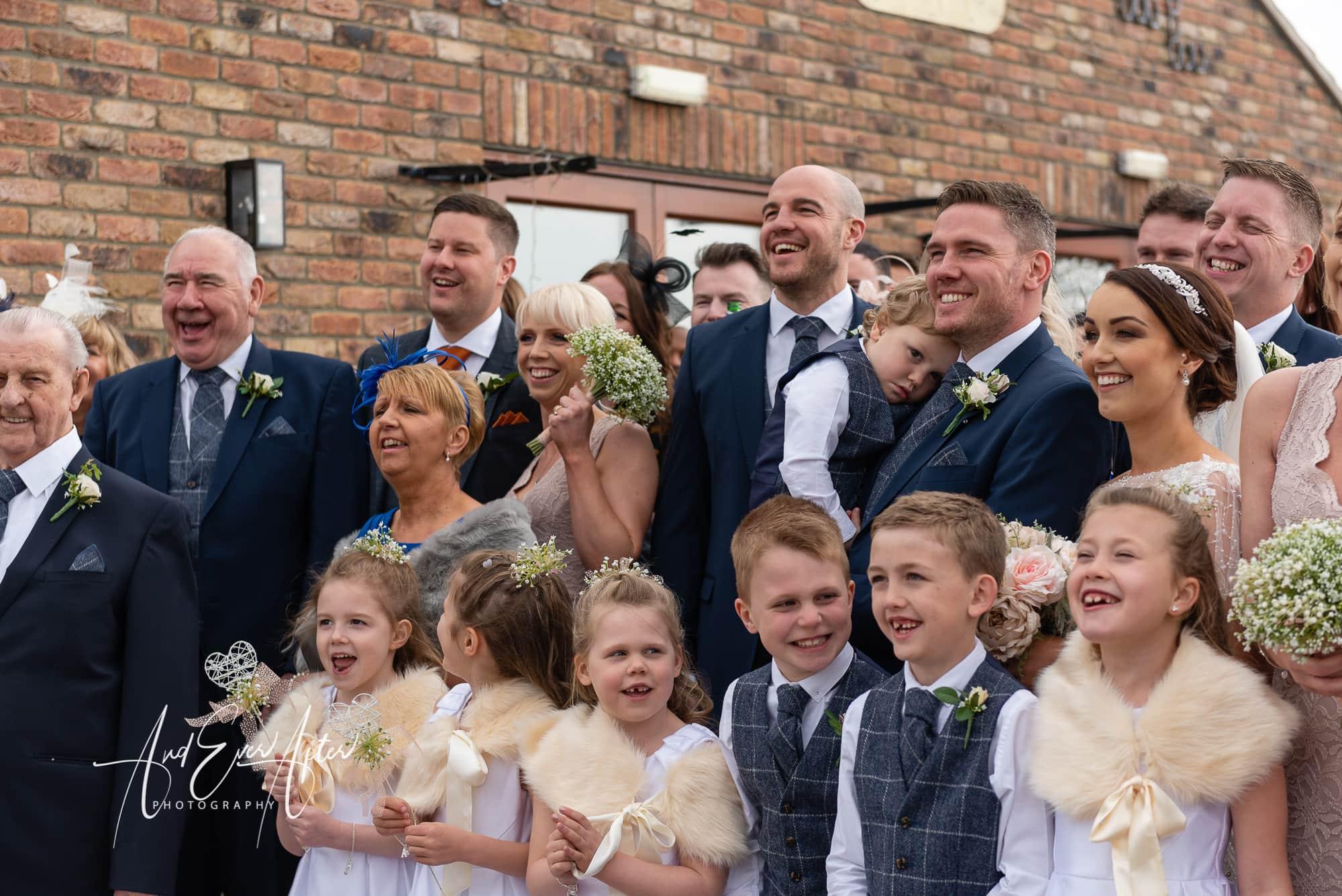 family wedding day photo