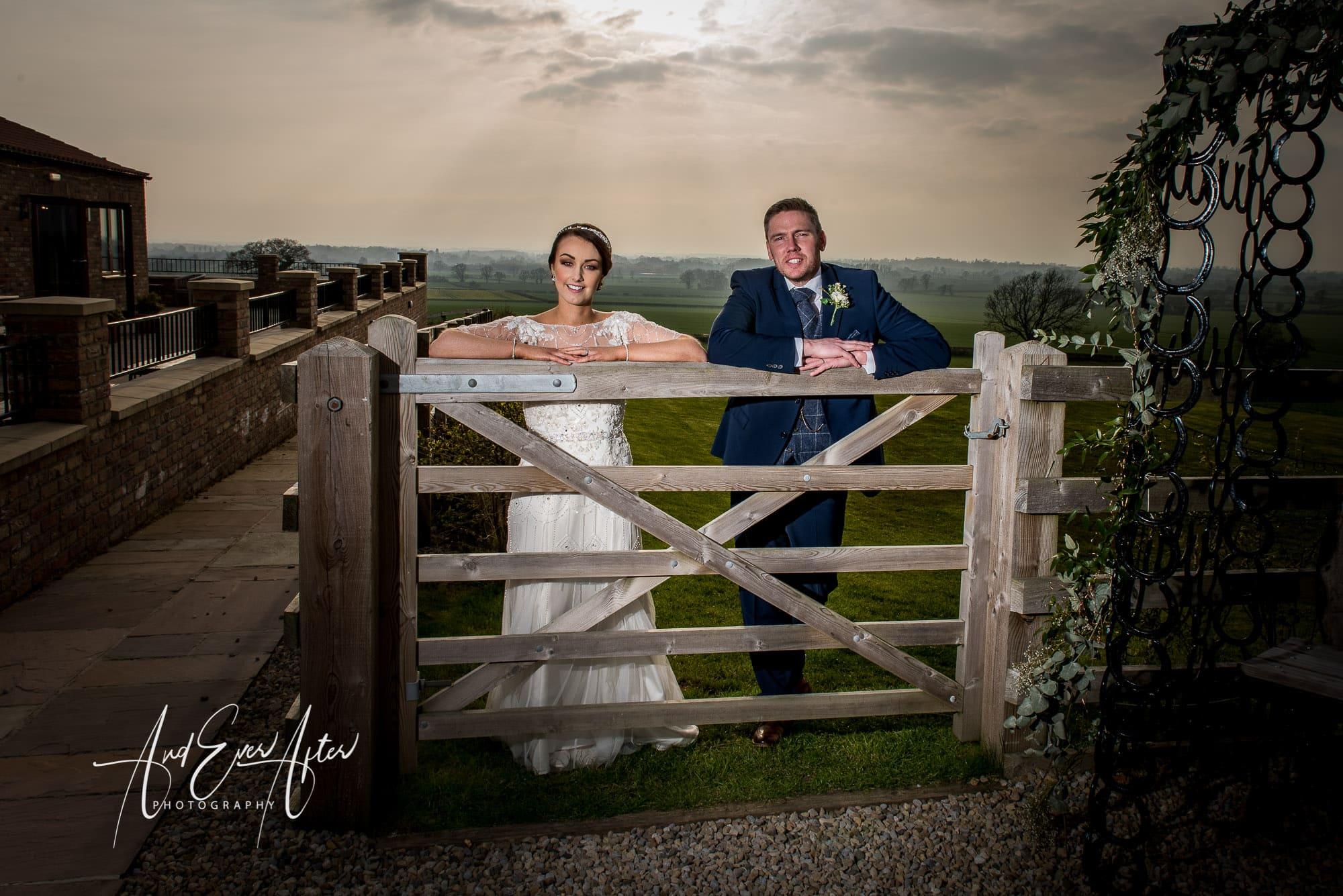 bride, groom, wedding day, love, sunset