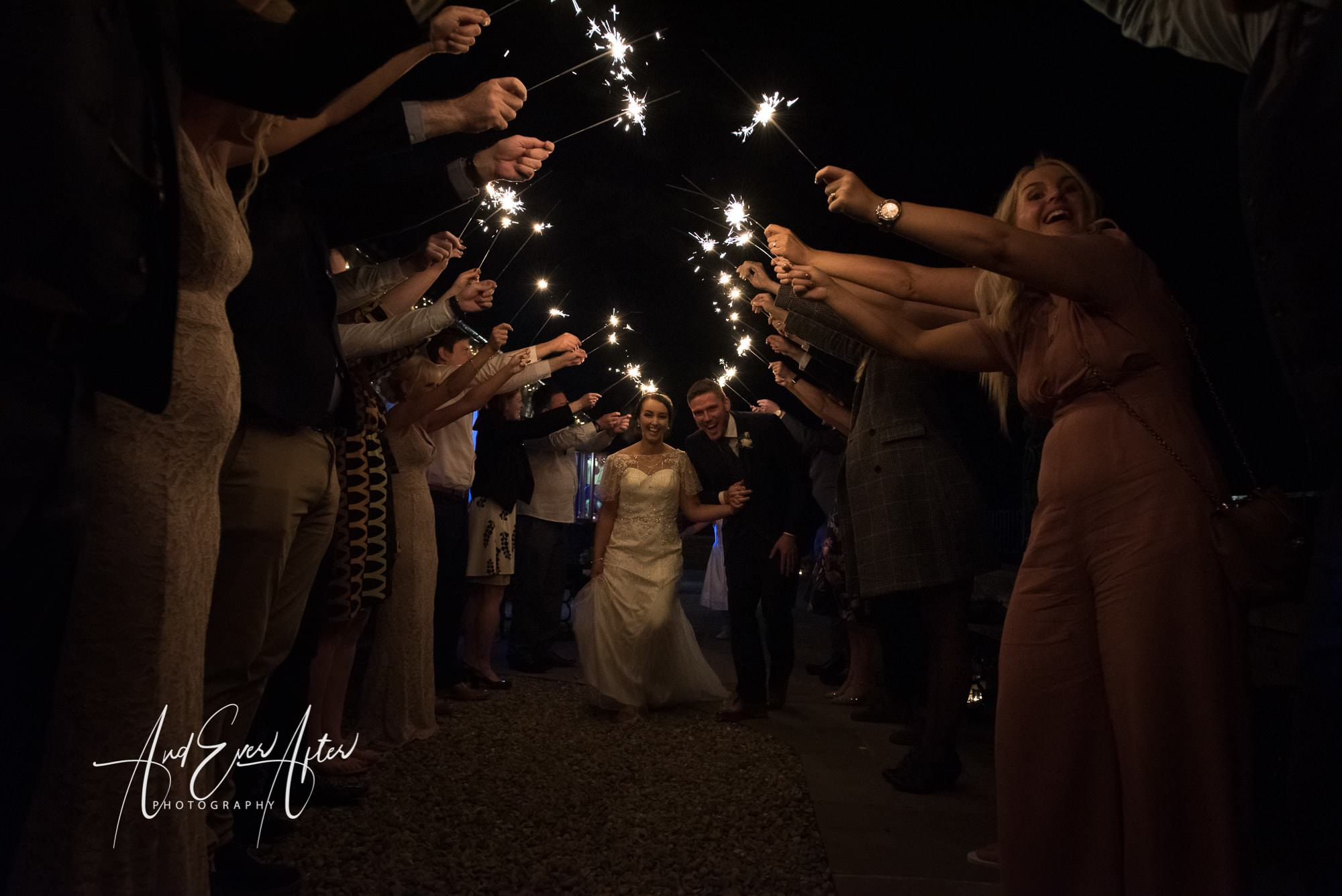 bride, groom, wedding day, love, sparklers, wedding photography