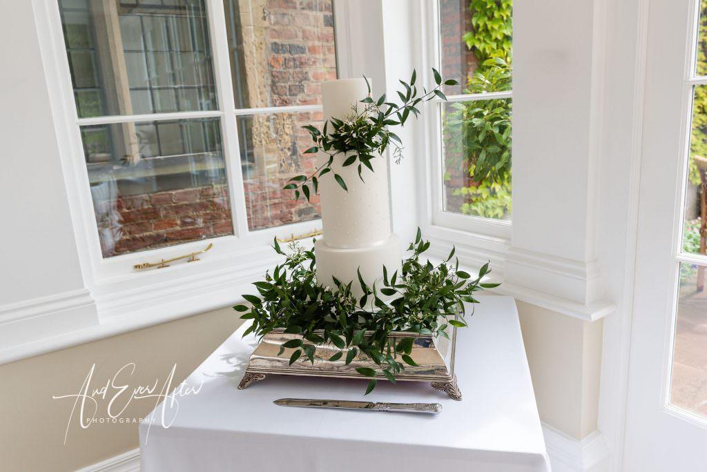 wedding photography at Goldsborough Hall, the orangery set up for a wedding reception