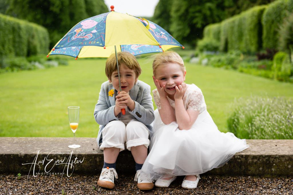 wedding photography at Goldsborough Hall, young wedding guests