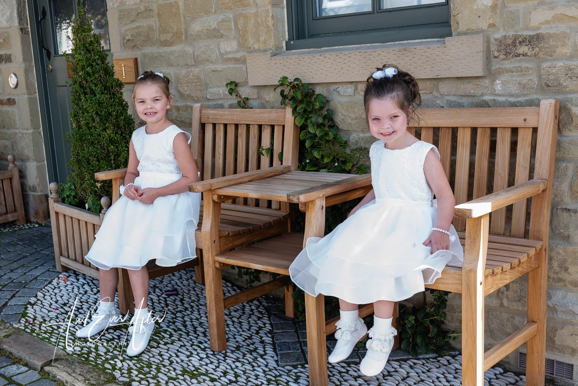 wedding day, flower girls
