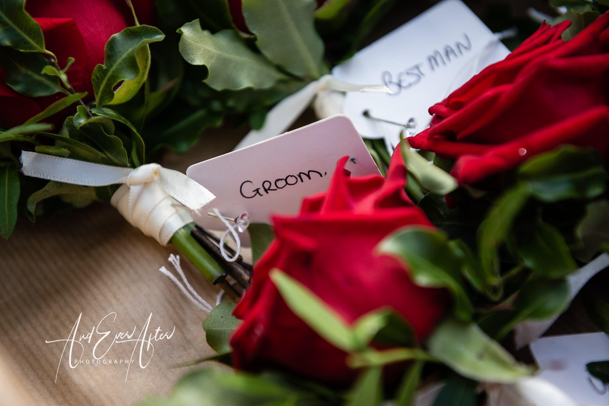 wedding buttonholes, flowers