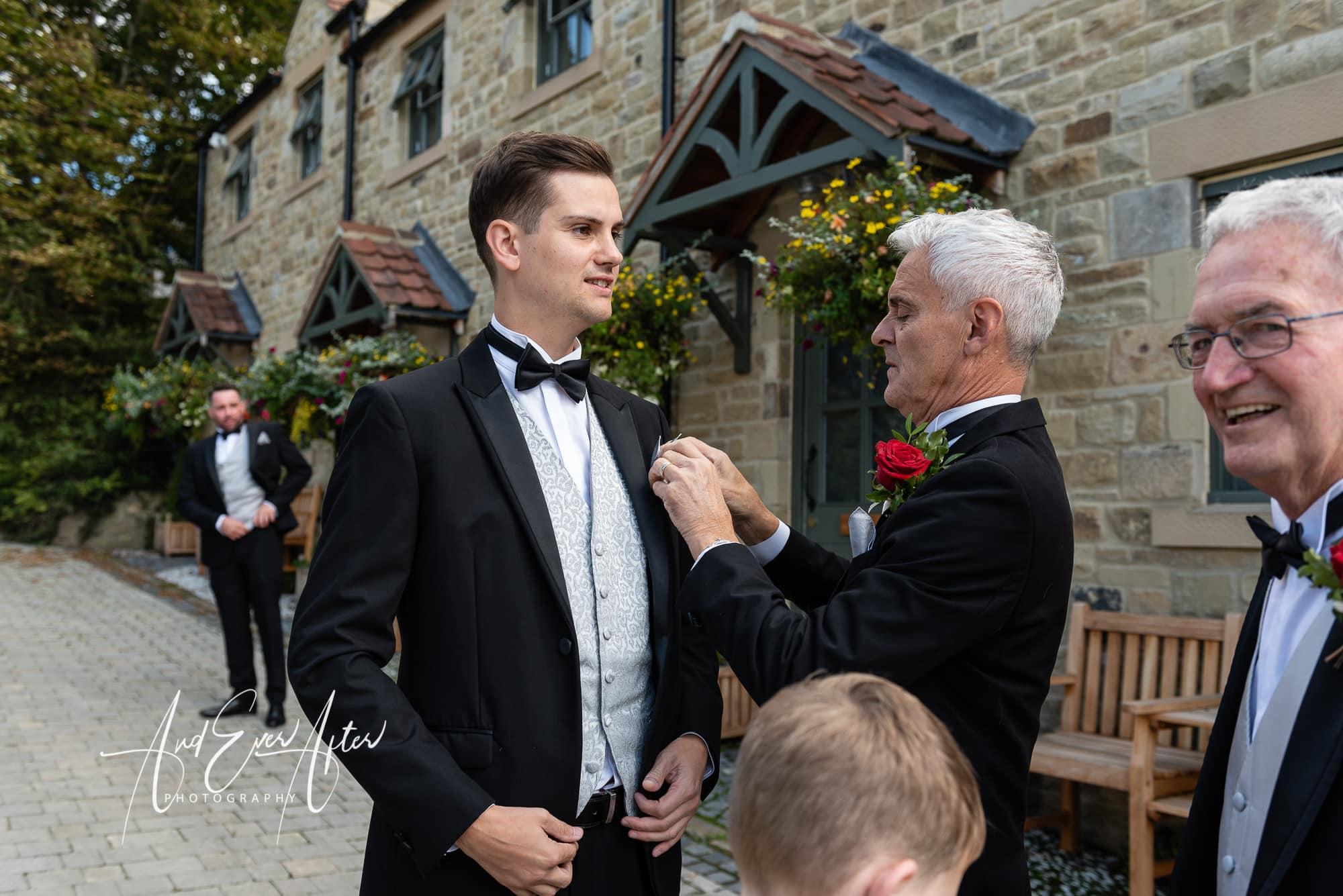 Groom, wedding day