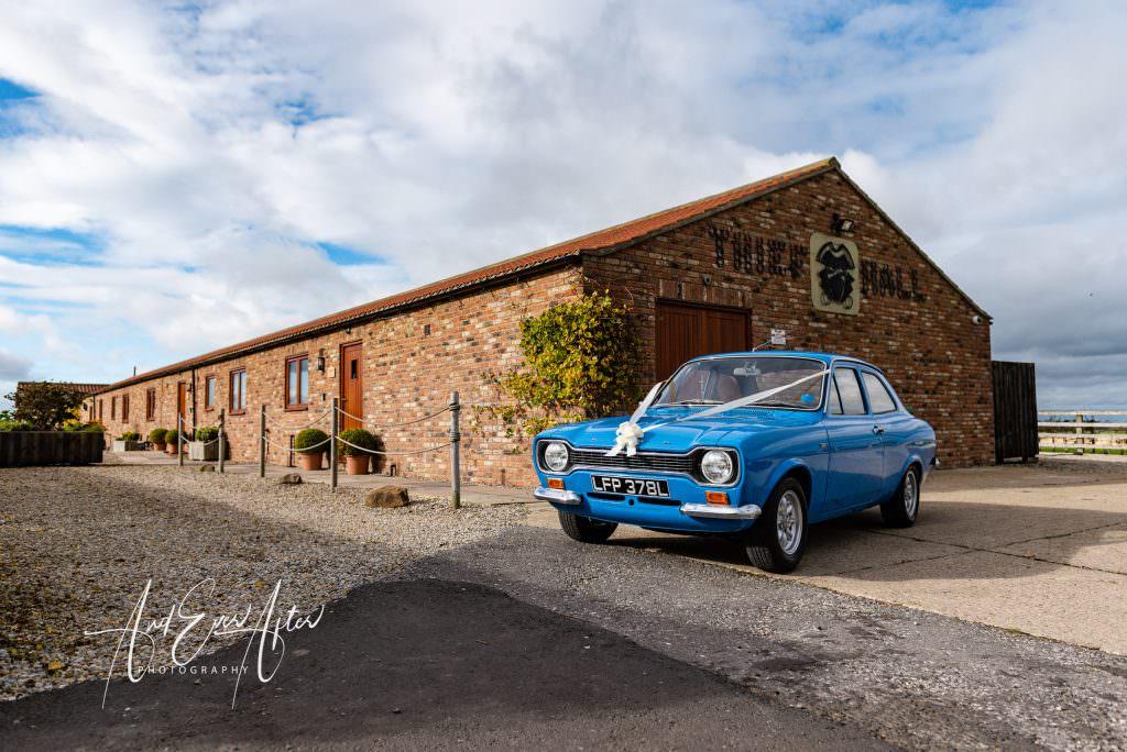 North Yorkshire Wedding Venue, Thief Hall, Wedding Photography, wedding car