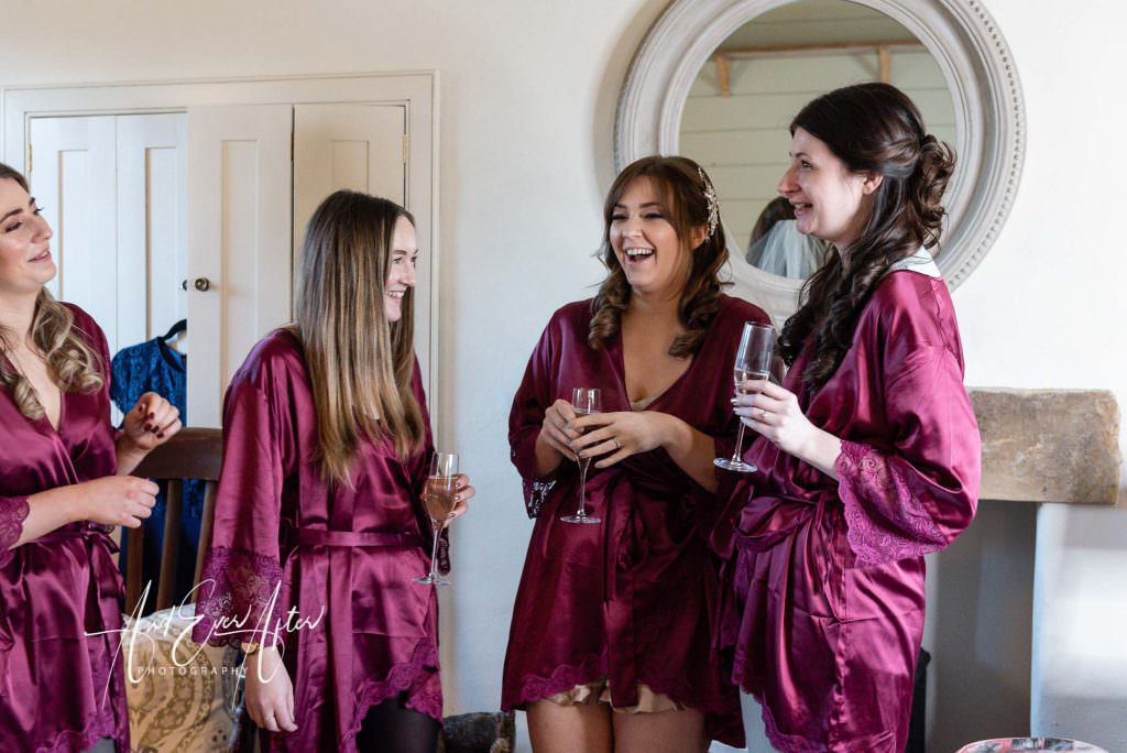 Bride to be with bridesmaids