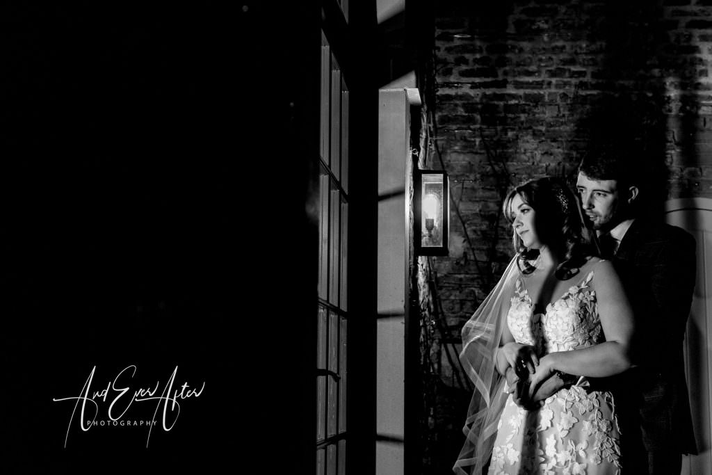Wedding at Middleton Lodge, Wedding Couple photograph, walled garden wedding photography