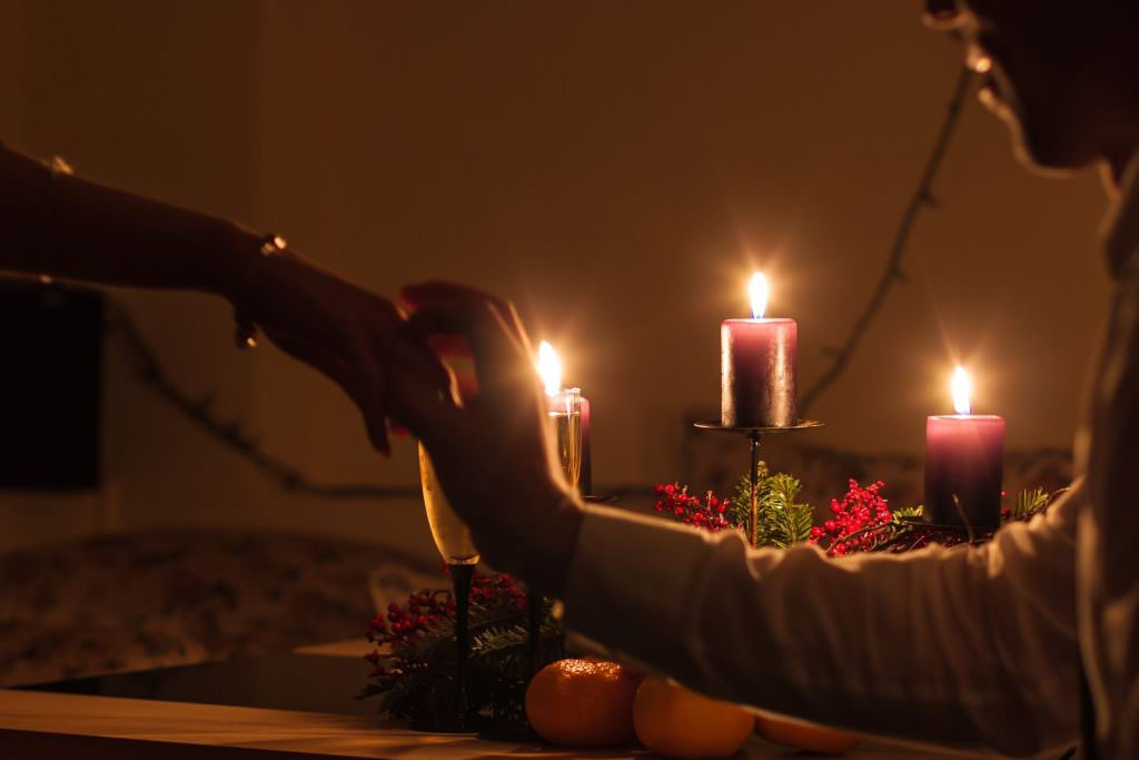Candle lit dinner proposal
