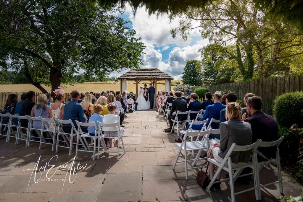 Outdoor wedding ceremony at The Morritt Hotel
